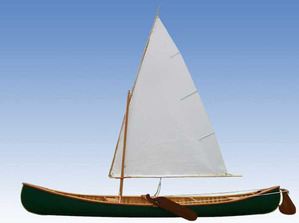 Wood sail canoe
